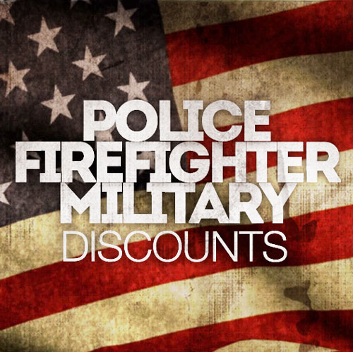 Discounts Available For First Responders. Contact us for more information.